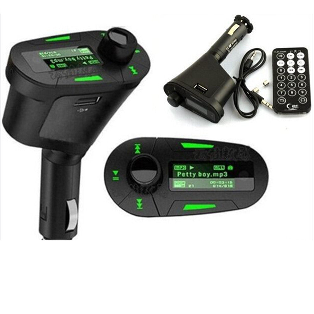 Wireless Car MP3 FM Transmitter Modulator USB SD MMC LCD Display+Remote 3 Colors Red - Mega Save Wholesale & Retail - 2