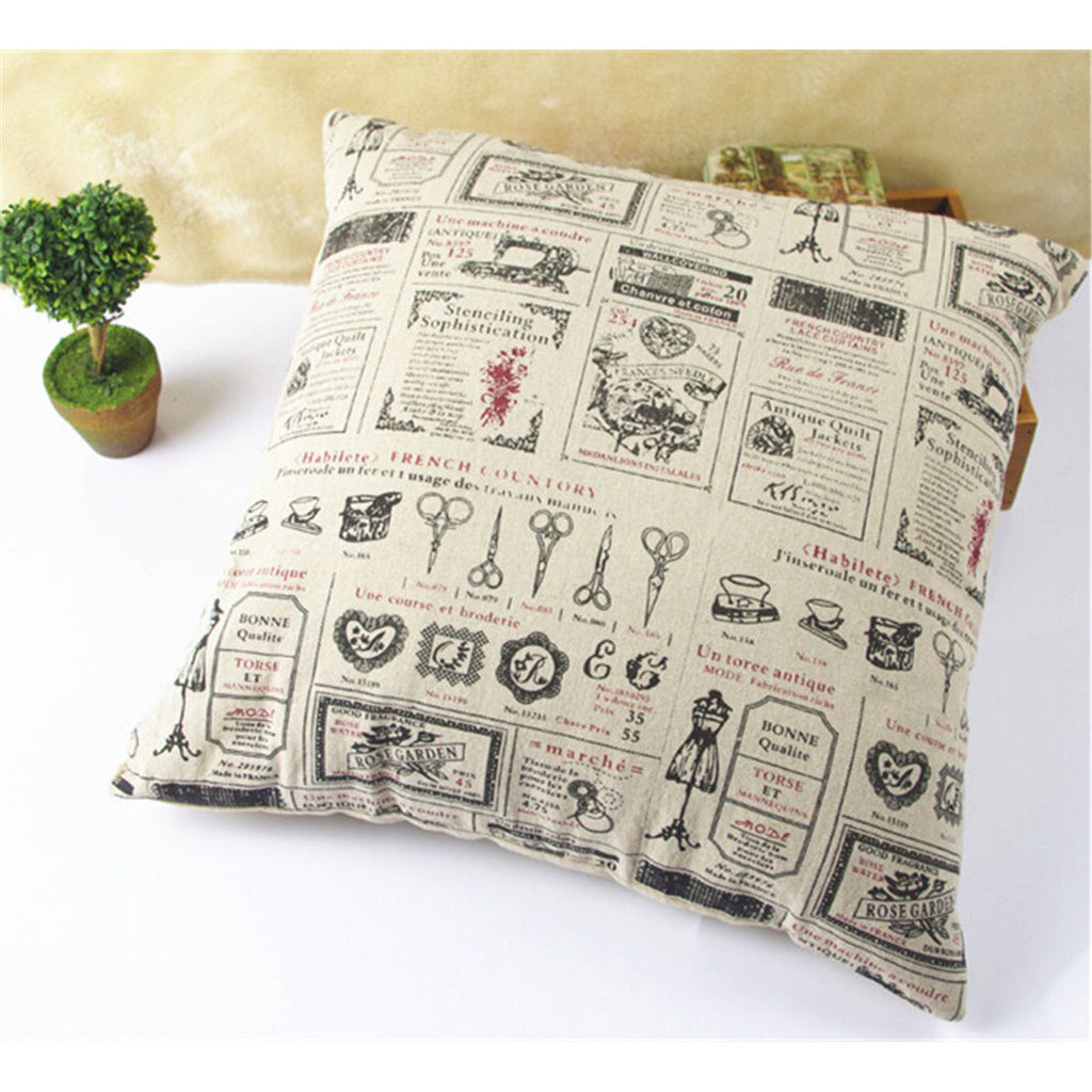 British Printed cotton  pillow cover cushion cover  9 - Mega Save Wholesale & Retail