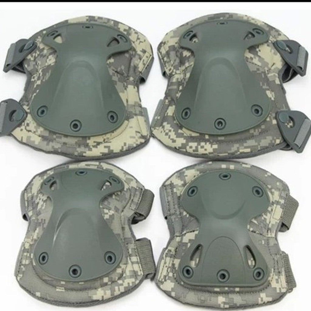 the protector tactical protector set camouflage kneelet elbow pad    black - Mega Save Wholesale & Retail - 3
