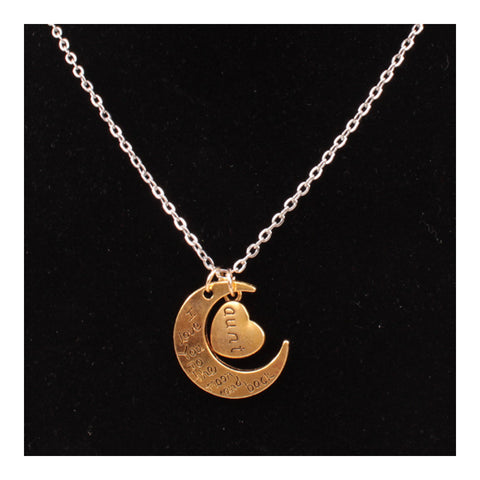 X329 love Valentine's Day love couple of European and American moon necklace ebay jewelry supply   AUNT GOLD - Mega Save Wholesale & Retail