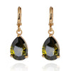 Water-drop Zircon Earrings    A green - Mega Save Wholesale & Retail