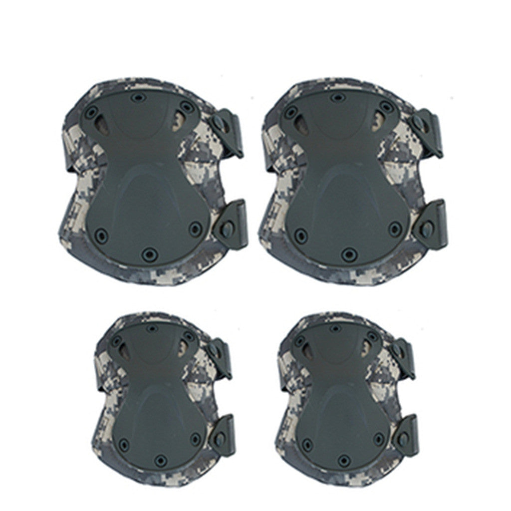 the protector tactical protector set camouflage kneelet elbow pad    black - Mega Save Wholesale & Retail - 4