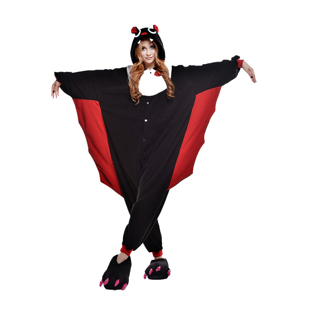 Unisex Adult Pajamas Cosplay Costume Animal Onesie Sleepwear Suit    Bat - Mega Save Wholesale & Retail