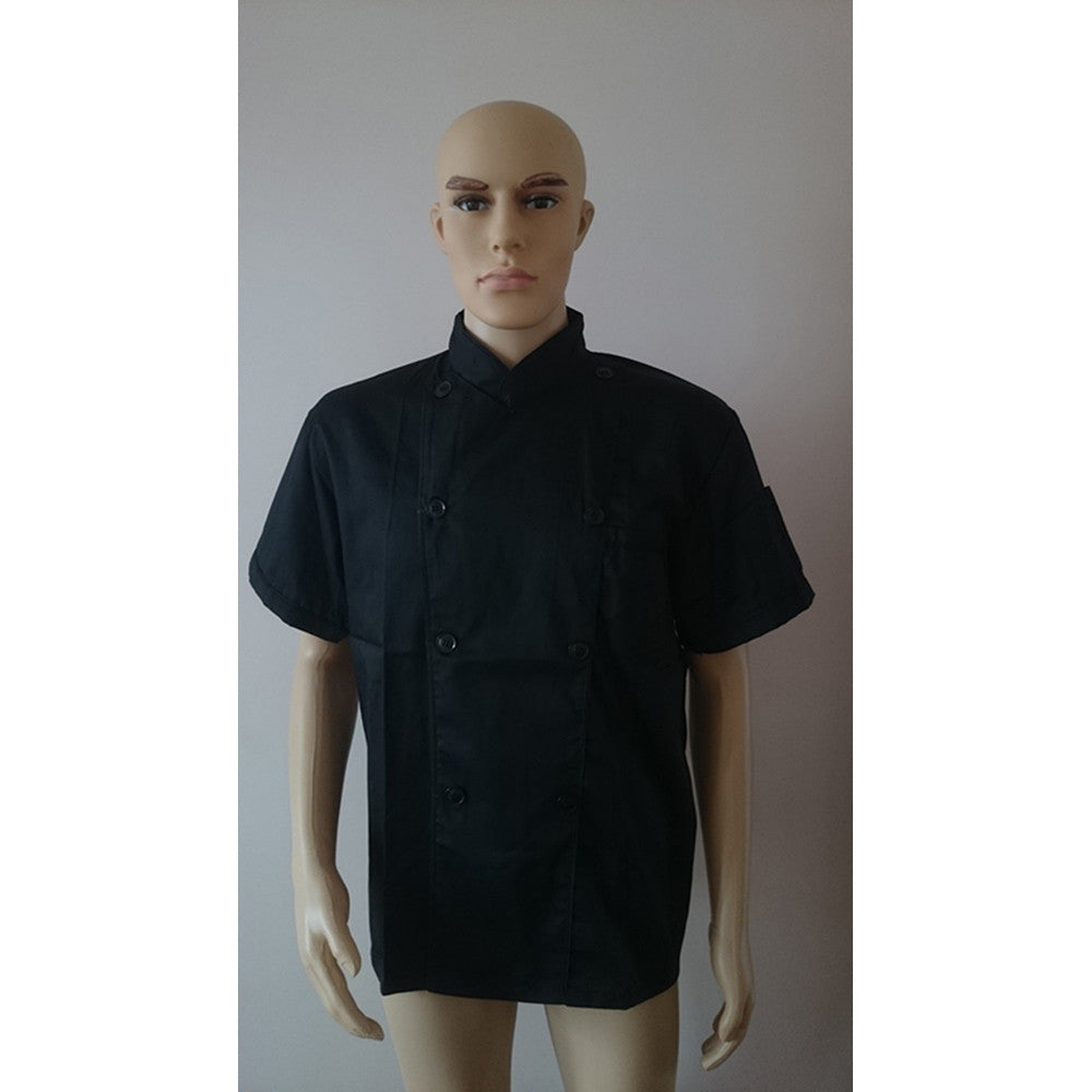 Short Sleeve Kitchen Cooker Working Uniform Chef Waiter Waitress Coat Jacket - Mega Save Wholesale & Retail