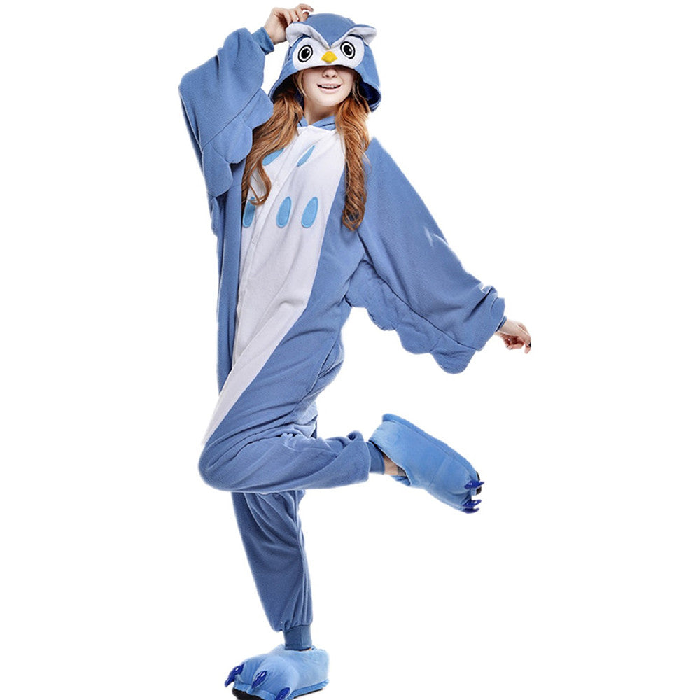 Unisex Adult Pajamas Cosplay Costume Animal Onesie Sleepwear Suit     Owl - Mega Save Wholesale & Retail