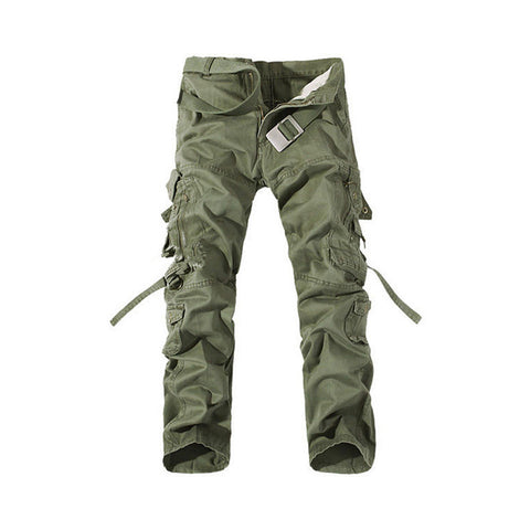 Fashion Mens Work Trousers Military Army Cargo Camo Combat Multi-pocket Pants   Grass green - Mega Save Wholesale & Retail