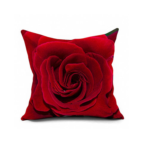 Cotton Flax Pillow Cushion Cover Flower   HD031 - Mega Save Wholesale & Retail