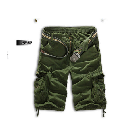 Fashion Mens Work Trousers Military Army Cargo Camo Combat Multi-pocket Pants   Army green - Mega Save Wholesale & Retail