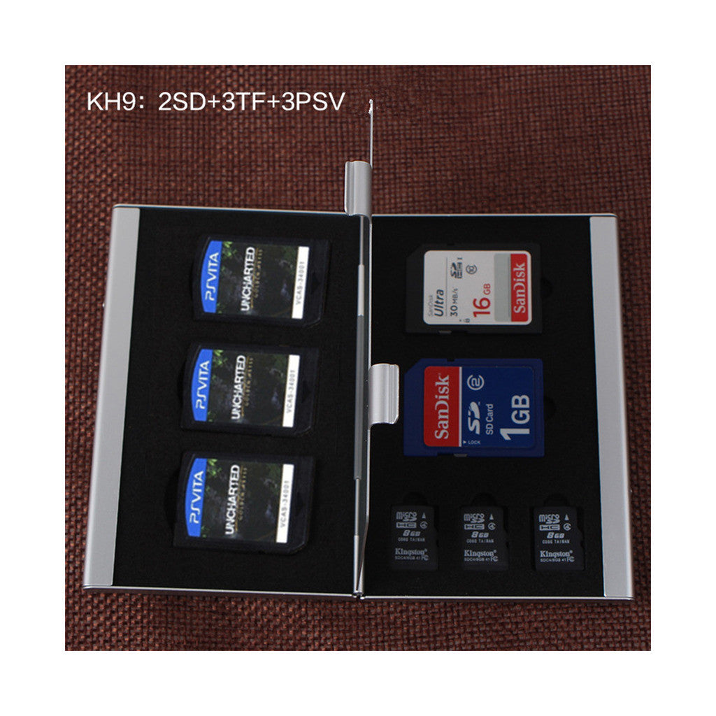 Metal Multifuntional Card Box PSV CF SD TF Memory Card Storage Box KH9    6PSV - Mega Save Wholesale & Retail - 4