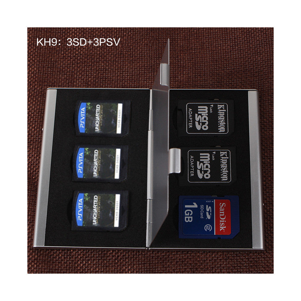 Metal Multifuntional Card Box PSV CF SD TF Memory Card Storage Box KH9    6PSV - Mega Save Wholesale & Retail - 3