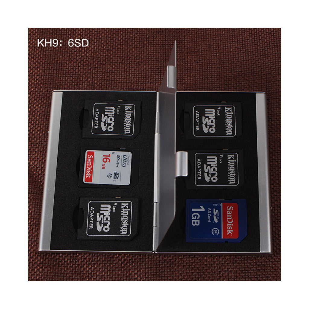 Metal Multifuntional Card Box PSV CF SD TF Memory Card Storage Box KH9    6PSV - Mega Save Wholesale & Retail - 2
