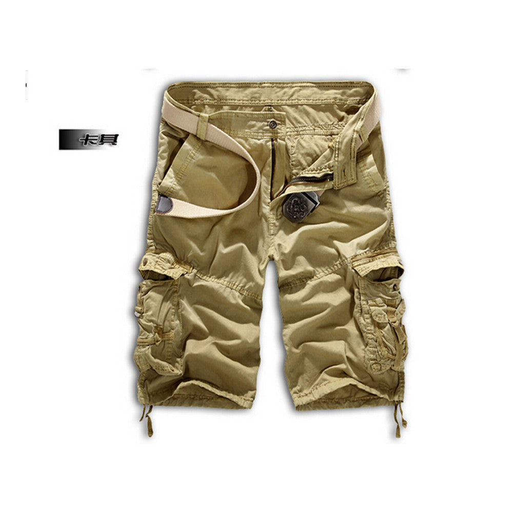 Fashion Mens Work Trousers Military Army Cargo Camo Combat Multi-pocket Pants   Khaki - Mega Save Wholesale & Retail