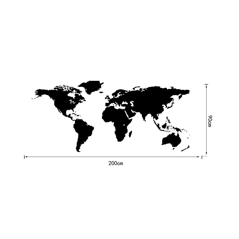 World Map Wall Art Vinyl Decal Stickers Home Decor Removable Mural Free Postage   55*130 - Mega Save Wholesale & Retail - 2
