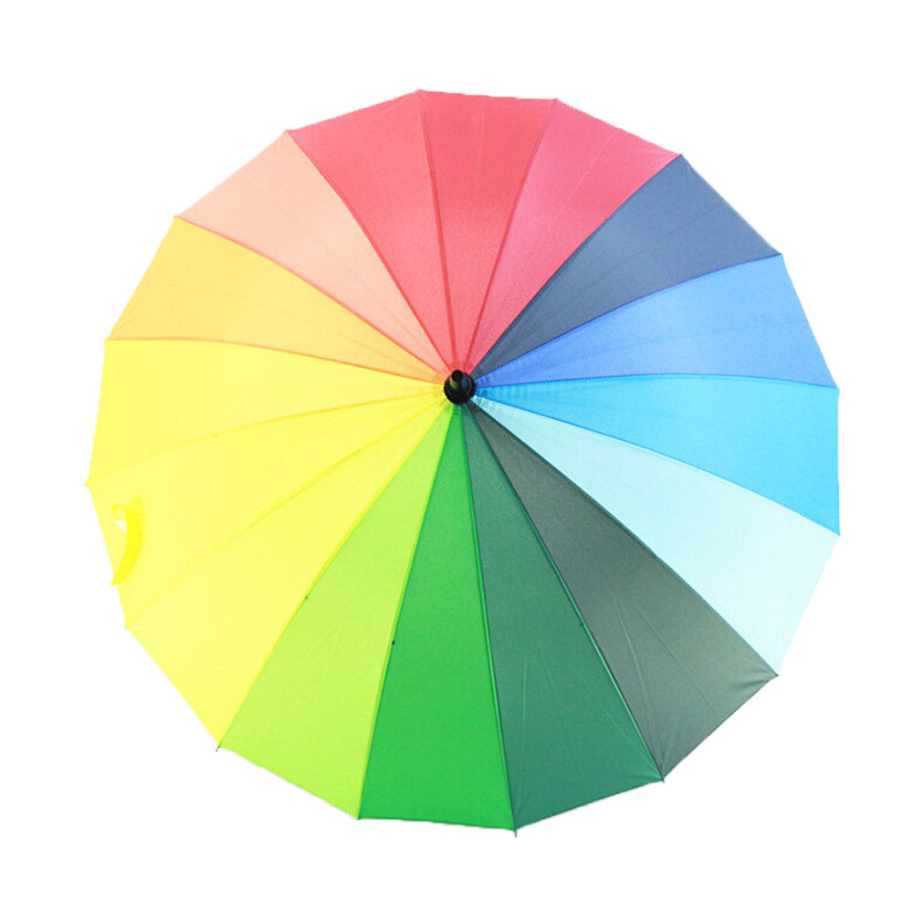 2015 New Rainbow Umbrella with Straight Shank Wedding Party Favor - Mega Save Wholesale & Retail