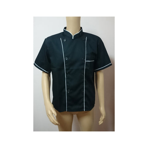 Short Sleeve Kitchen Cooker Working Uniform Chef Waiter Waitress Coat Jacket - Mega Save Wholesale & Retail - 1