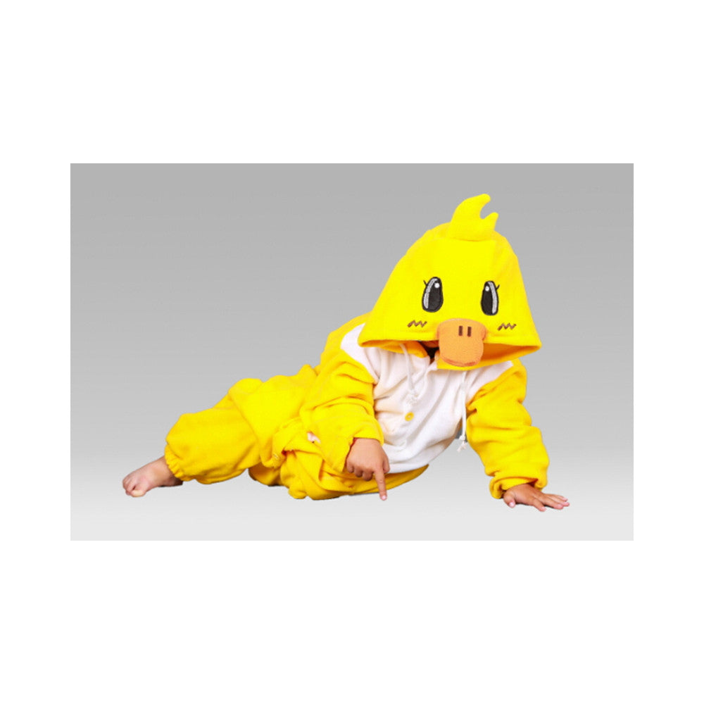 Kids Cute Cartoon Sleepwear Pajamas Cosplay Costume Animal Onesie Suit Fancy Dress    Yellow duck - Mega Save Wholesale & Retail