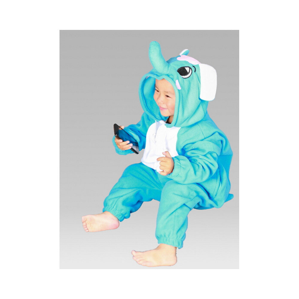Kids Cute Cartoon Sleepwear Pajamas Cosplay Costume Animal Onesie Suit Fancy Dress  Elephant - Mega Save Wholesale & Retail