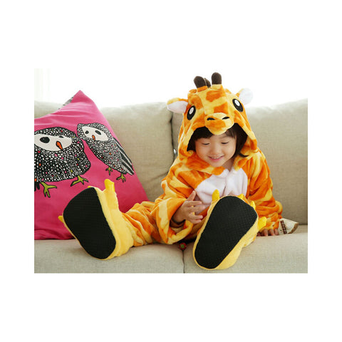 Kids Cute Cartoon Sleepwear Pajamas Cosplay Costume Animal Onesie Suit Fancy Dress    Giraffe - Mega Save Wholesale & Retail