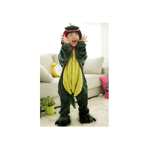 Kids Cute Cartoon Sleepwear Pajamas Cosplay Costume Animal Onesie Suit Fancy Dress    Green Dinosaurs - Mega Save Wholesale & Retail