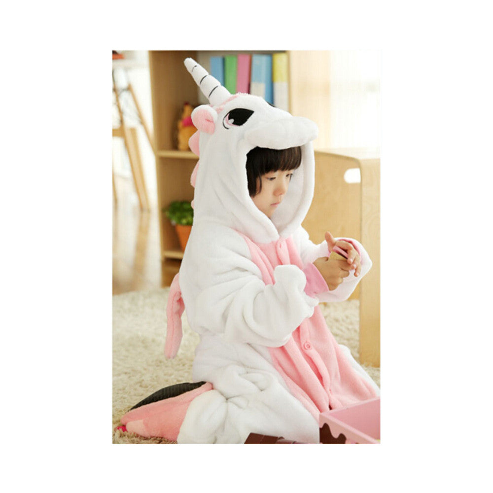 Kids Cute Cartoon Sleepwear Pajamas Cosplay Costume Animal Onesie Suit Fancy Dress   Pink Unicorn - Mega Save Wholesale & Retail
