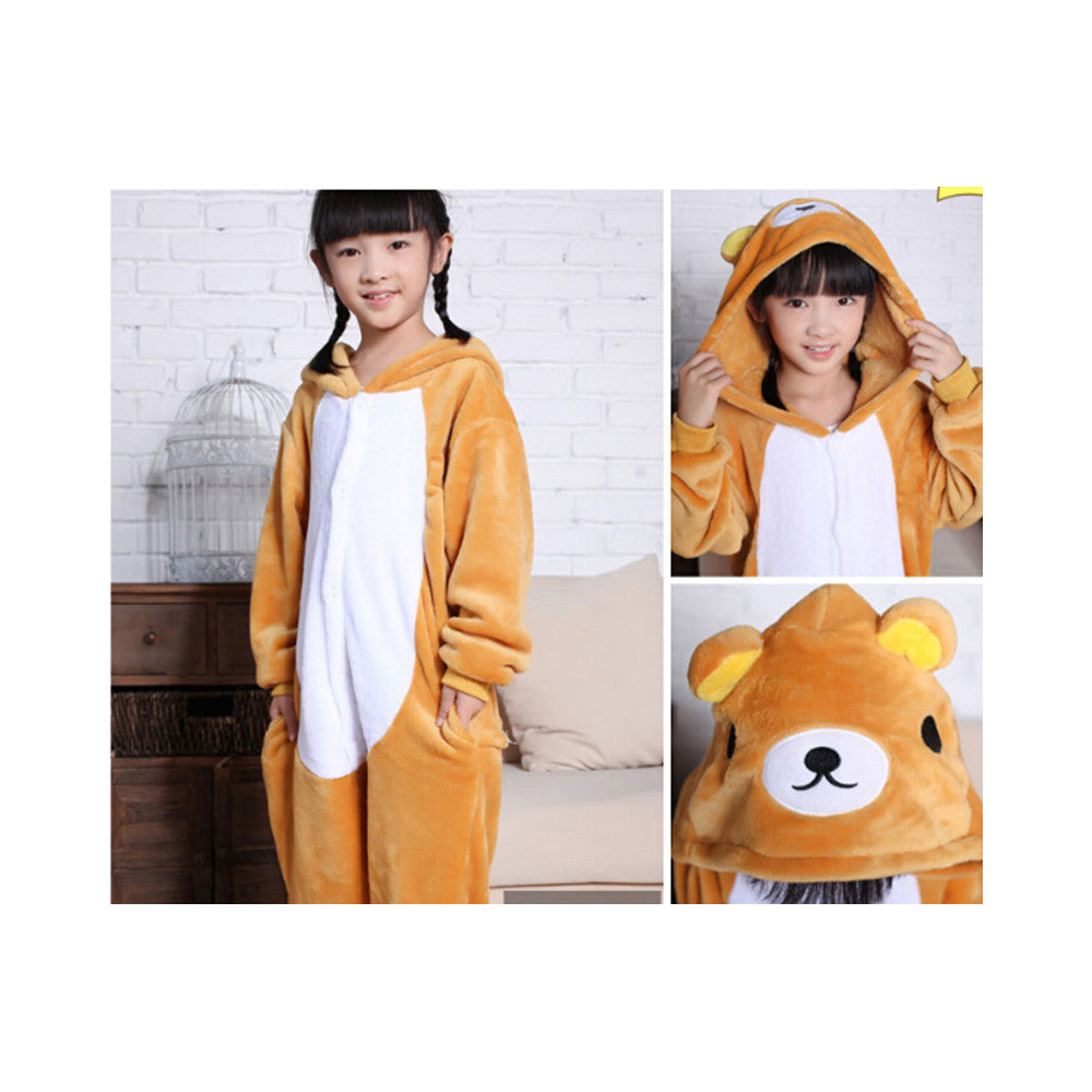 Kids Cute Cartoon Sleepwear Pajamas Cosplay Costume Animal Onesie Suit Fancy Dress    bear - Mega Save Wholesale & Retail
