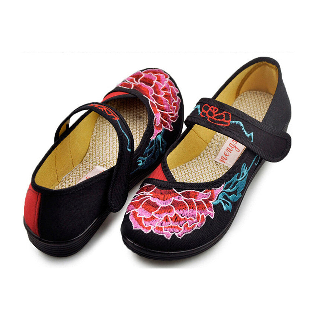 d53aa669187c Vintage Mary Jane Chinese Shoes loafer black - Mega Save Wholesale   Retail  - 1