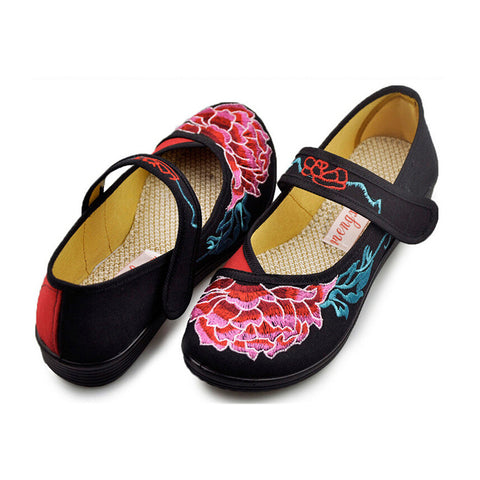 Vintage Mary Jane Chinese Shoes loafer black - Mega Save Wholesale & Retail - 1