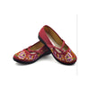 Vintage Chinese Embroidered Flat Ballet Ballerina Cotton Mary Jane Shoes for Women in Ventilated Red Floral Design - Mega Save Wholesale & Retail - 3