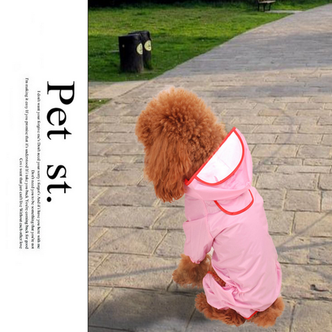 Pet Dog Puppy Raincoat 11 Size four-legged dog coat dog clothes available for both small and large dogs Pink 10 - Mega Save Wholesale & Retail