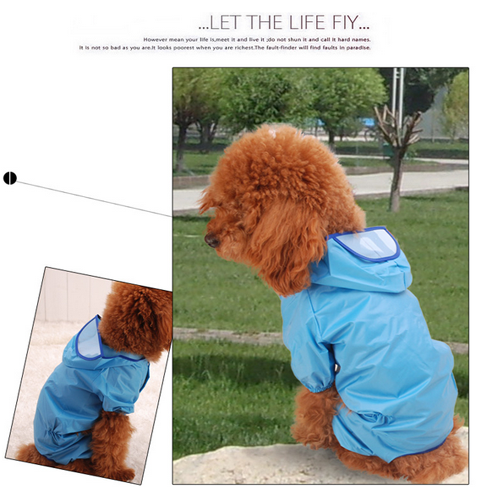 Pet Dog Puppy Raincoat 11 Size four-legged dog coat dog clothes available for both small and large dogs Blue 10 - Mega Save Wholesale & Retail