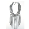European Big Brand Tassel Necklace Alloy Hot Sold Exaggerated Ornament   silver - Mega Save Wholesale & Retail