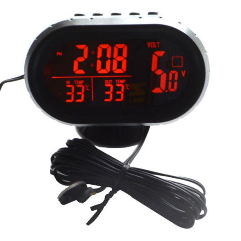 Automotive Clock Table Digital Clock Car Temperature Thermometer Luminous Clock Car Accessory - Mega Save Wholesale & Retail - 1