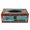zakka England Vintage PU Leather Tissue Box   ZJH-5blue - Mega Save Wholesale & Retail - 1