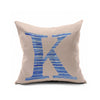 Cotton Flax Pillow Cushion Cover Letter   ZM007 - Mega Save Wholesale & Retail