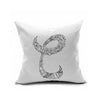 Cotton Flax Pillow Cushion Cover Letter   ZM010 - Mega Save Wholesale & Retail