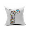 Cotton Flax Pillow Cushion Cover Letter   ZM031 - Mega Save Wholesale & Retail