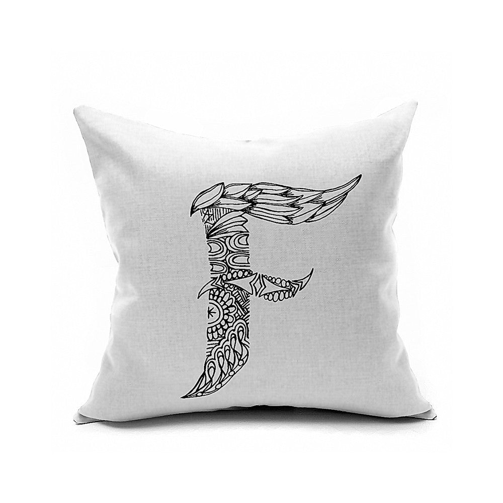 Cotton Flax Pillow Cushion Cover Letter   ZM034 - Mega Save Wholesale & Retail