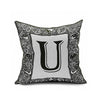 Cotton Flax Pillow Cushion Cover Letter   ZM037 - Mega Save Wholesale & Retail