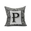 Cotton Flax Pillow Cushion Cover Letter   ZM056 - Mega Save Wholesale & Retail