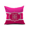 Cotton Flax Pillow Cushion Cover Letter   ZM082 - Mega Save Wholesale & Retail