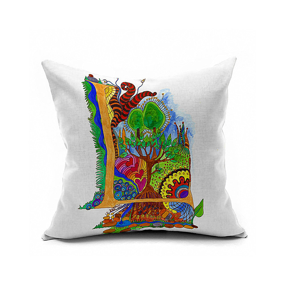 Cotton Flax Pillow Cushion Cover Letter   ZM129 - Mega Save Wholesale & Retail
