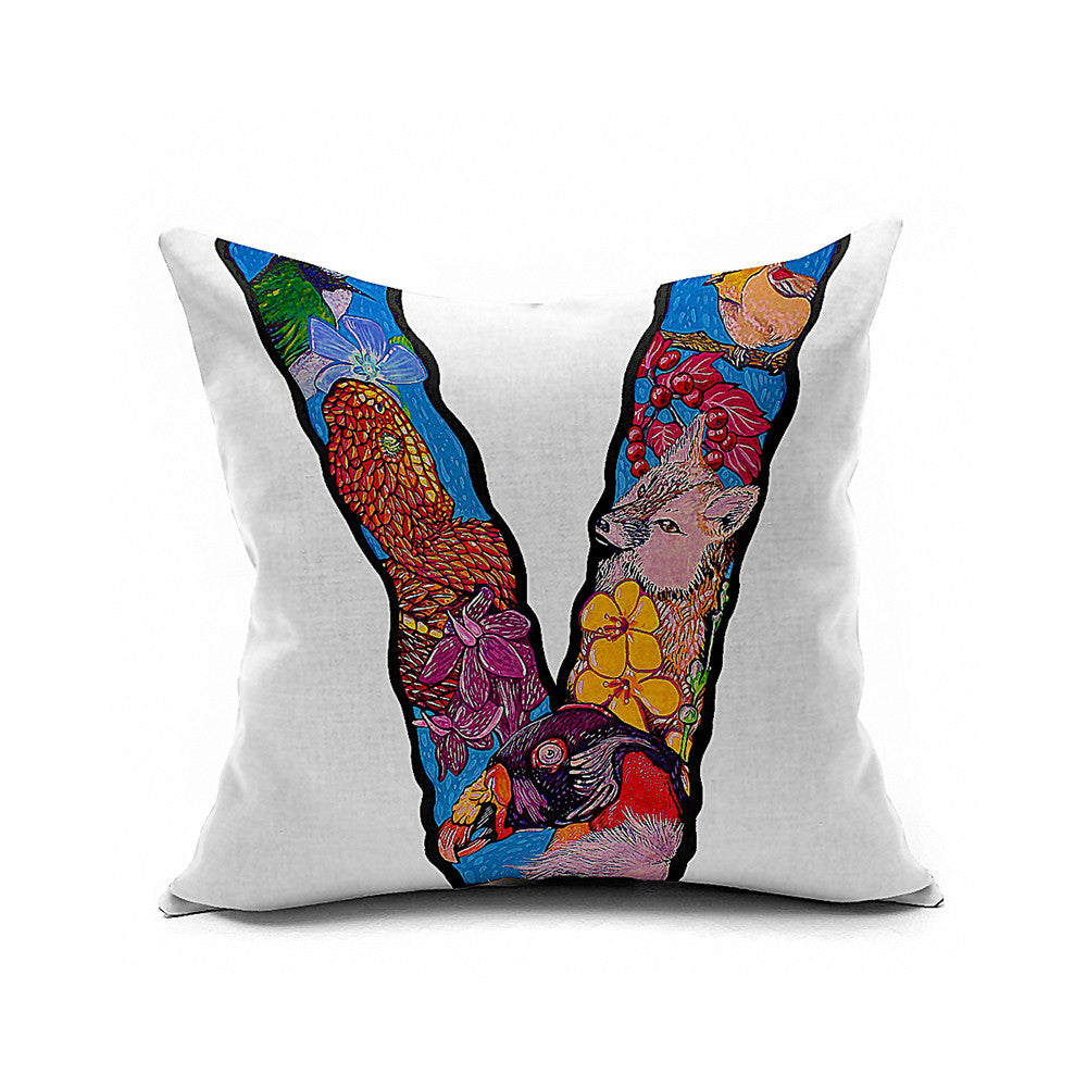 Cotton Flax Pillow Cushion Cover Letter   ZM143 - Mega Save Wholesale & Retail