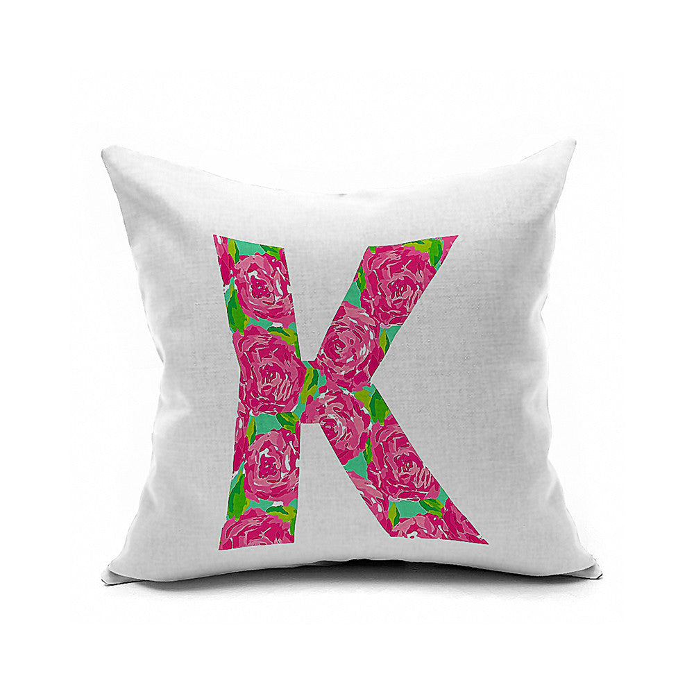 Cotton Flax Pillow Cushion Cover Letter   ZM161 - Mega Save Wholesale & Retail
