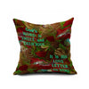 Cotton Flax Pillow Cushion Cover Letter   ZM170 - Mega Save Wholesale & Retail