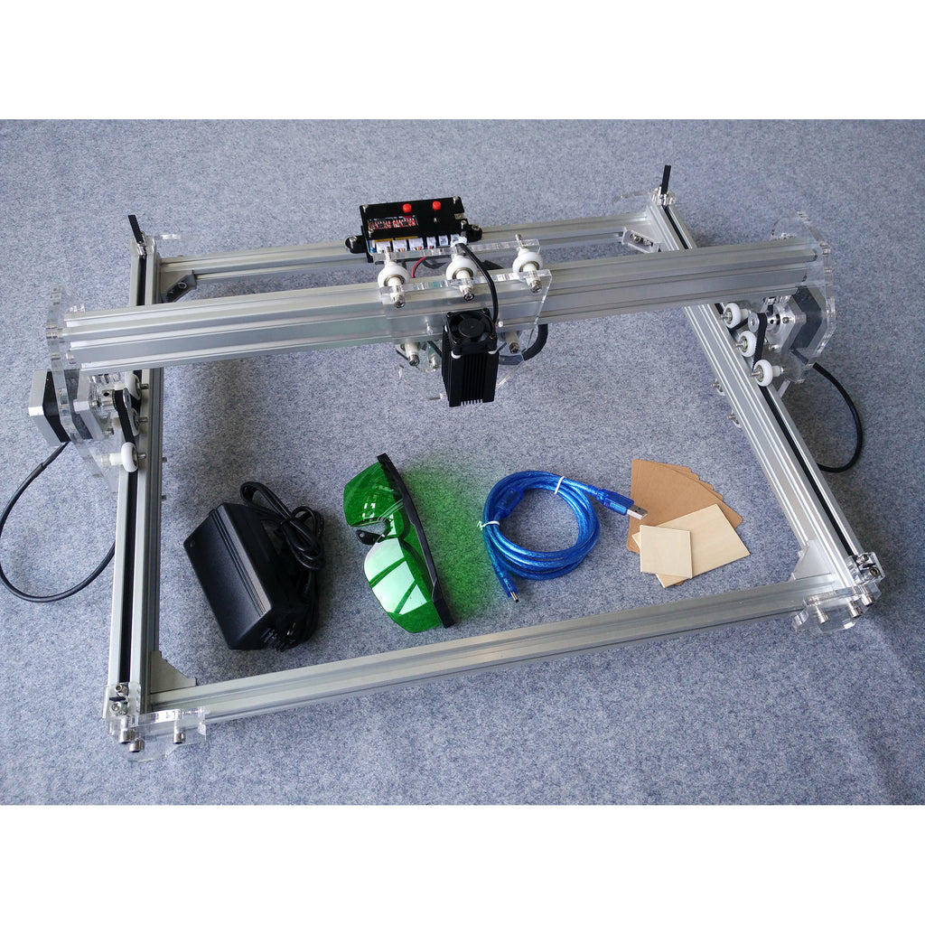 2500mW Desktop DIY Laser Engraver Engraving Machine CNC Printer aluminium alloy and acrylic Material A3 - Mega Save Wholesale & Retail - 2