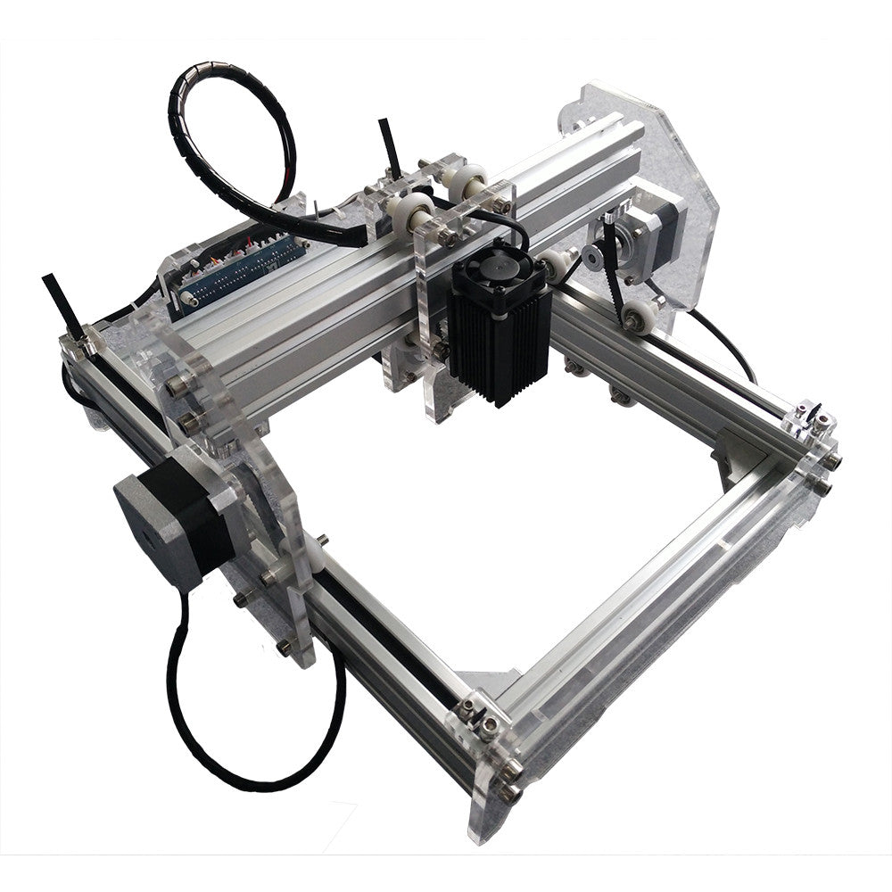 300 MW Desktop DIY Laser Engraver Machine in Flat Aluminum, Alloy & Acrylic Materials - Mega Save Wholesale & Retail - 1