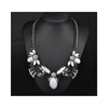 New National Style Necklace Gemstone Zircon High Grade Alloy Necklace Woman   white - Mega Save Wholesale & Retail