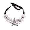 European Big Brand Necklace Simple Weaved Full Zircon Fake Collar Sweater Necklace    black - Mega Save Wholesale & Retail - 2