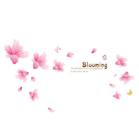 Flower Lily Wallpaper Wall Sticker Removeable - Mega Save Wholesale & Retail - 1