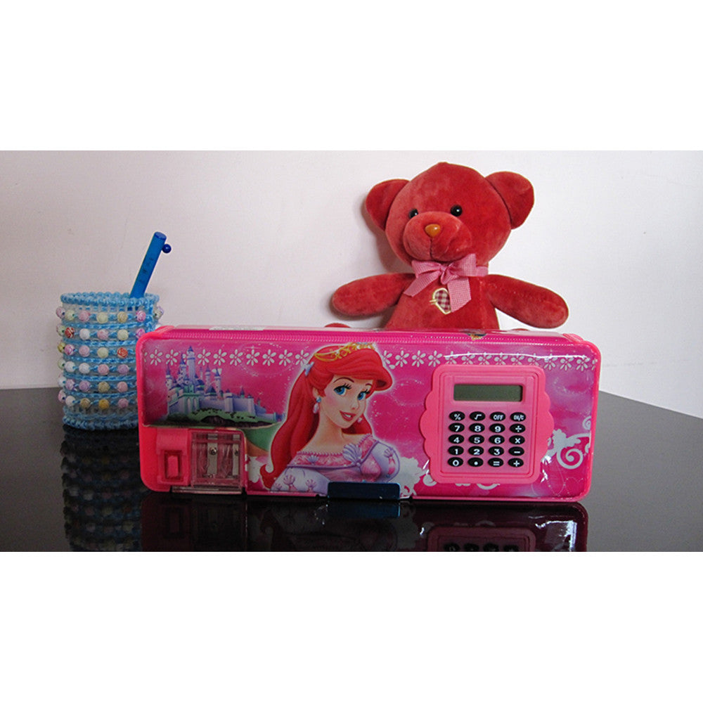 Cute cartoon student supplies Multifunction Two-sided pencil boxes pencil case with electric calculator big size   Snow white - Mega Save Wholesale & Retail - 1